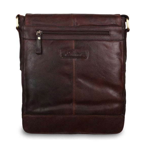 Ashwood G-32 Leather Shoulder Bag Brandy