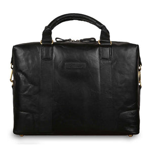 Ashwood G-34 Leather Satchel Black