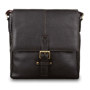 Ashwood Murphy Leather Shoulder Bag Brown
