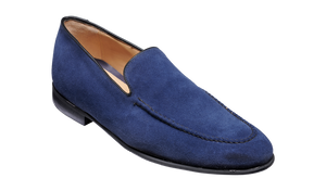 Barker Swanage-Dark Navy Suede-British Shoe Company