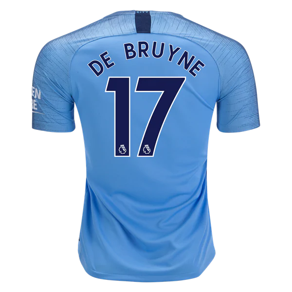 check out 65754 9ad9c Manchester City 18/19 Home Jersey Kevin De Bruyne #17