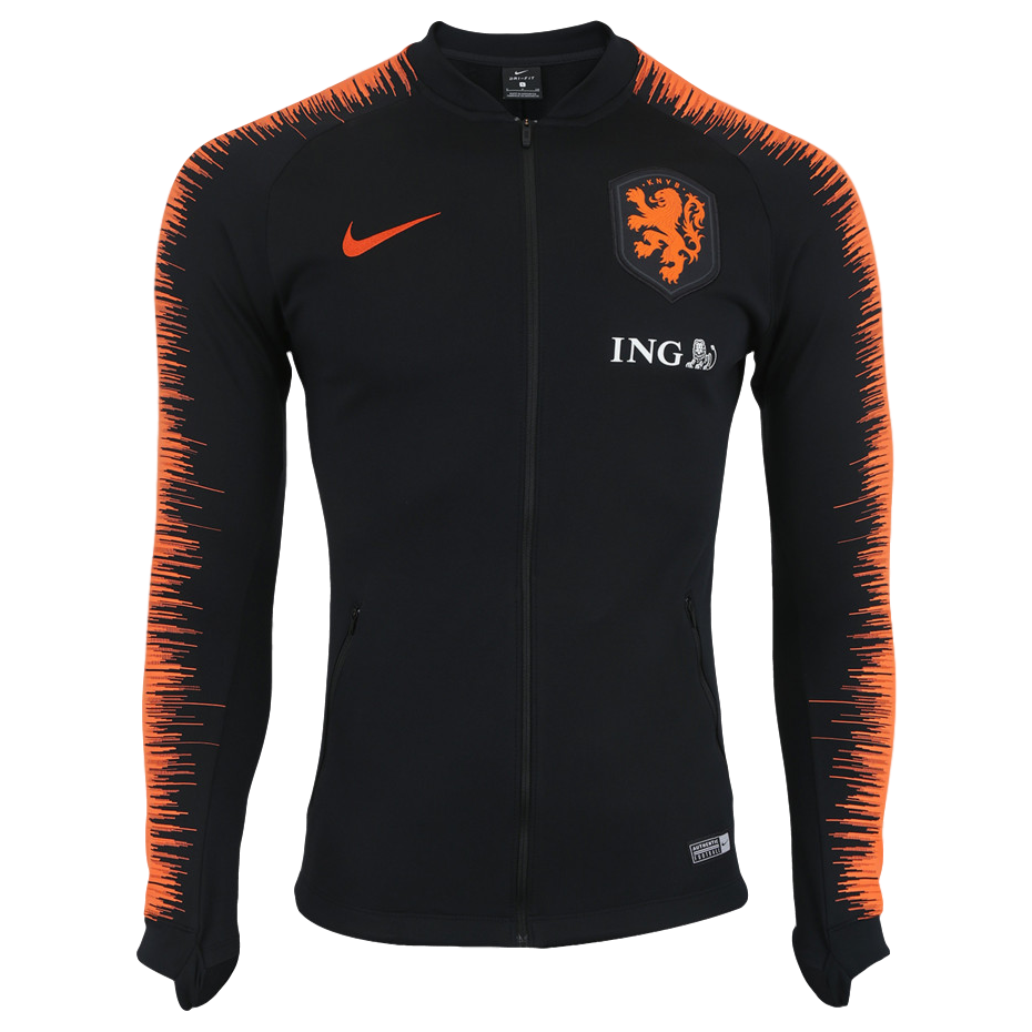 hot sale online b3772 8b24b Netherlands 2018 Black Anthem Jacket