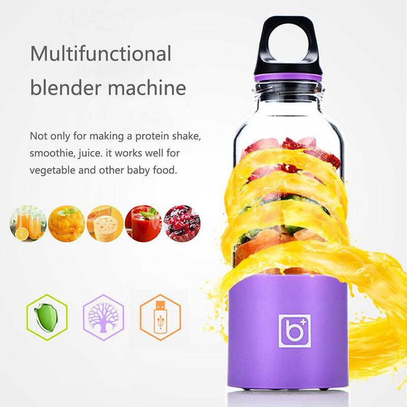LUCOG 550ml Portable Electric USB Juicer Cup Rechargeable Orange Citrus Lemon Fruit Juicer Blender Juice Smoothie Maker - EM