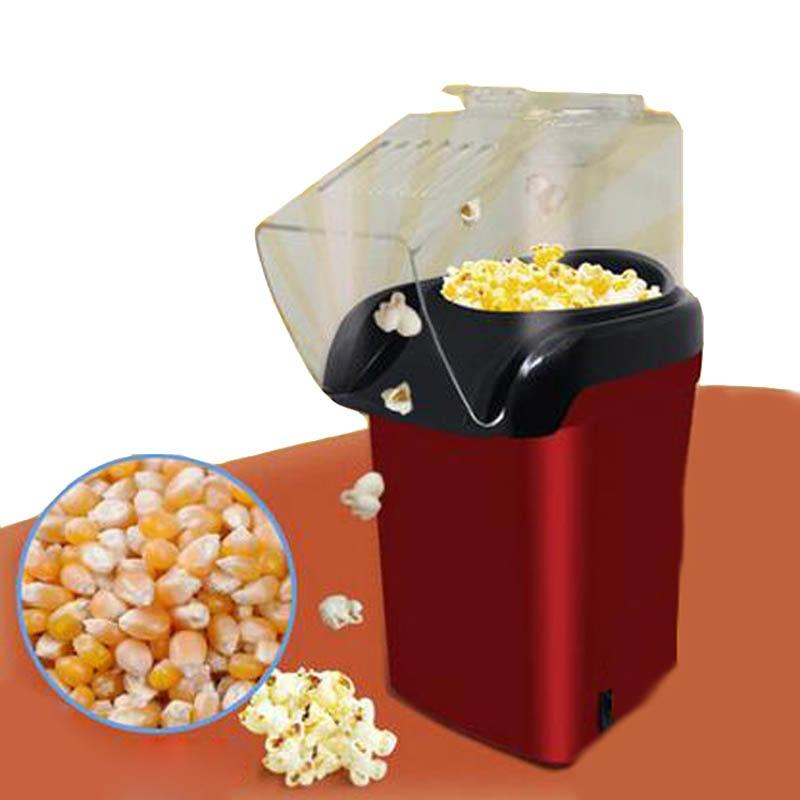 Mini Household Electric Popcorn Maker Machine Automatic Red Corn Popper Natural Hot Air Popcorn Maker corn Home use For kids - EM