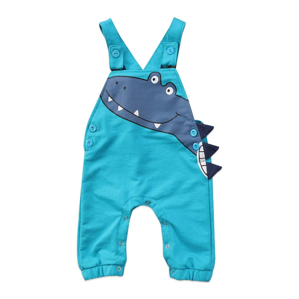 2017 Blue Newborn Infant Baby Boy Girl Dinosaur Sleeveless Romper Overall Jumpsuit Outfits Anime Cute Clothes - EM