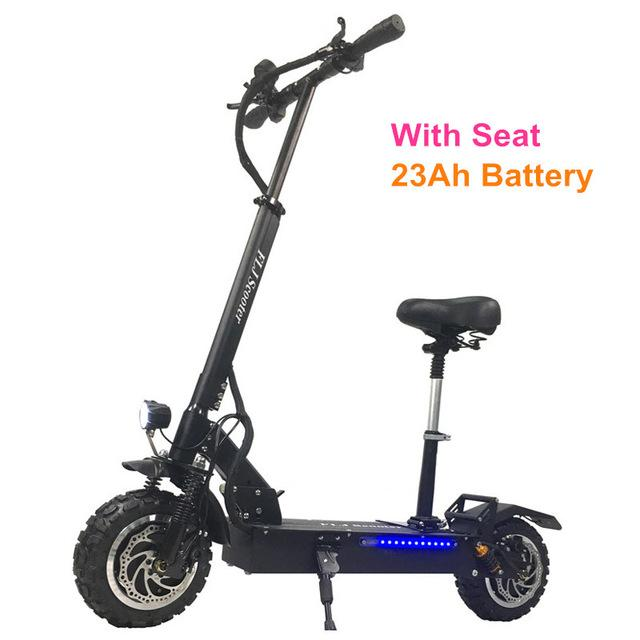 FLJ Powerful Electric Scooter 60V/3200W Electric Kick Scooter with 11inch on road / off road big fat wheel kick bike - EM