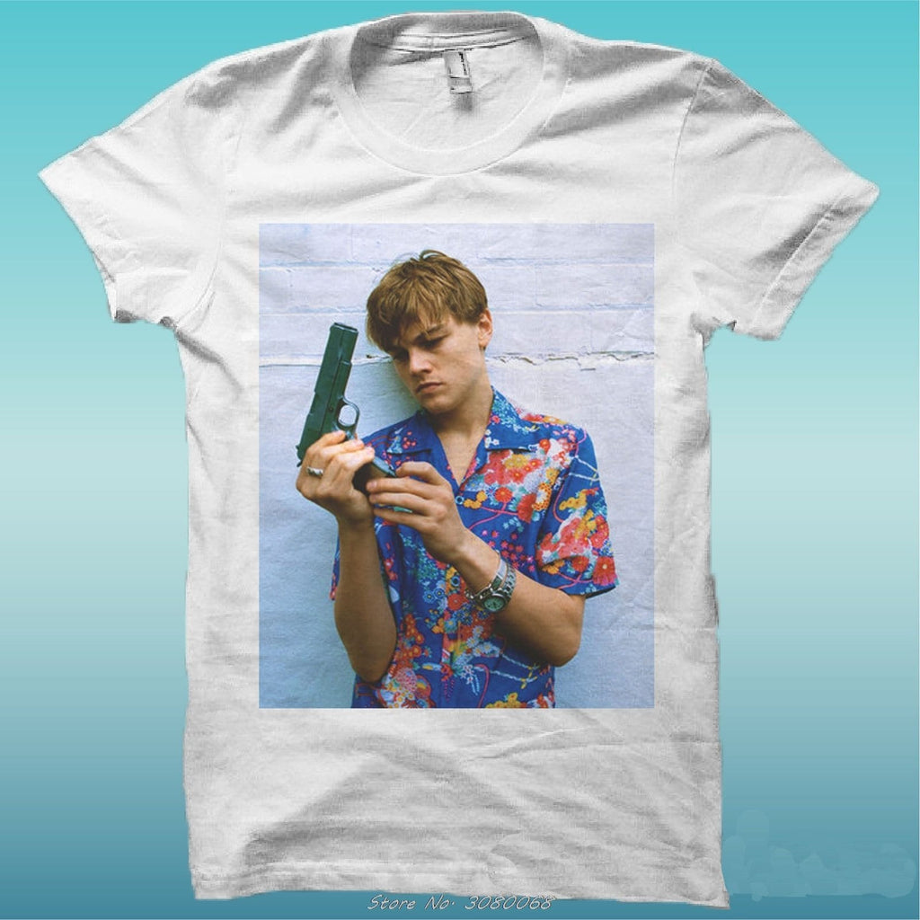"T-shirt ""leonardo Dicaprio Romeo Movie"" The Happiness Is Han My Shirt New Men Short Sleeve Cotton Tees Tops - EM"