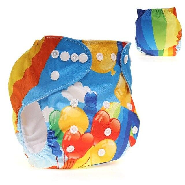 [CHOOEC] 2020 New Design Adjustable size Baby Washable Reusable Pocket Cloth Diaper Digital Integrated Flower Pattern Baby pants - EM