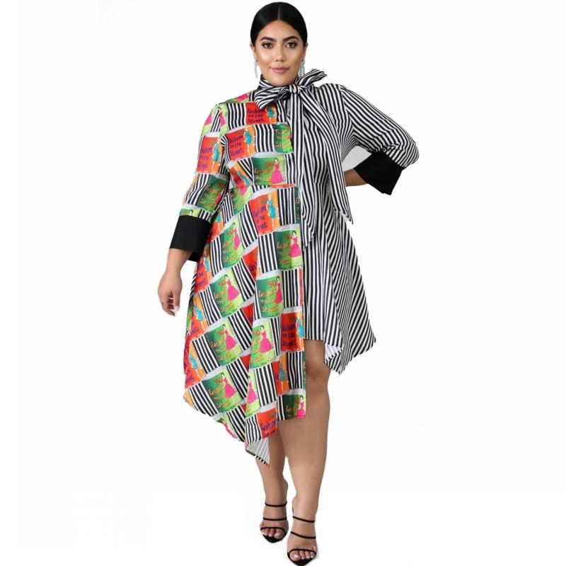 5XL 6XL Plus Size African Dresses For Women Robe African Clothing Dashiki Fashion Print Cloth Long Dress Africa Clothing - EM