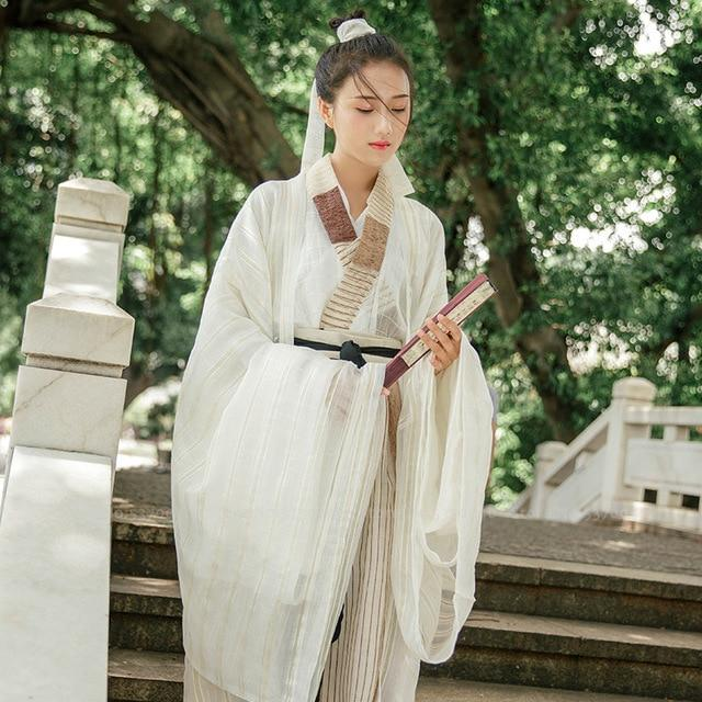 Chinese Traditional Hanfu Dress Tang Suit Tops Skirt Men Women Japanese Samurai Cardigan Kimono Yukata Robe Gown Cosplay Costume - EM