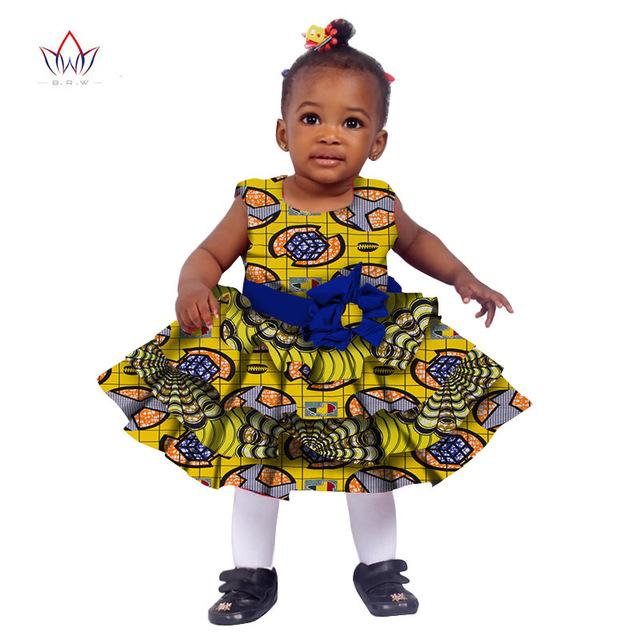 African Women Clothing kids dashiki Traditional Cotton Dresses Matching Africa Print Dresses Children Summer BRW WYT76 - EM