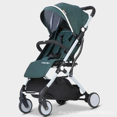 Lightweight folding baby Stroller 2 in 1 aluminum alloy can be on the airplane children baby pram - EM