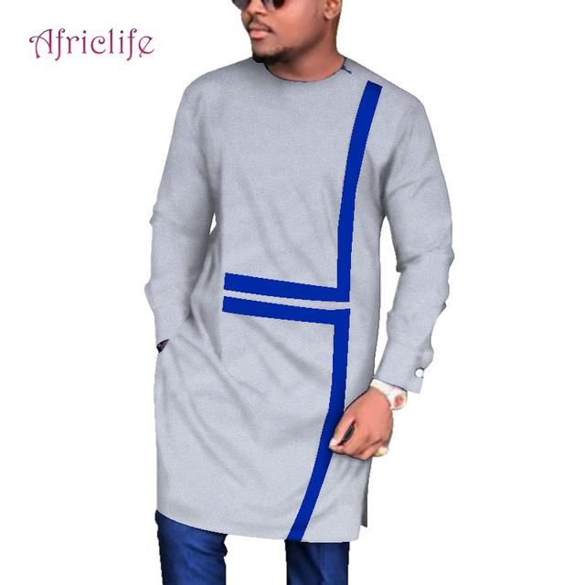 African Men's Long Sleeve Robes Traditional African Clothing Dashiki Men Clothes Plus Size Africa Men's Clothing 6XL WYN683 - EM