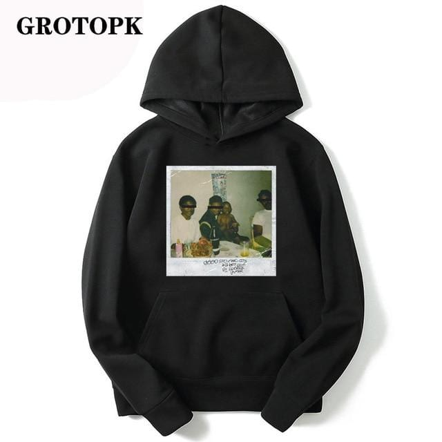 Kendrick Lamar Good Kid Men's / Women's Swestshirts Fashion Warm Rap Music Mens Hoodie Loose Print Streetwear Black Hoodie - Express Monde