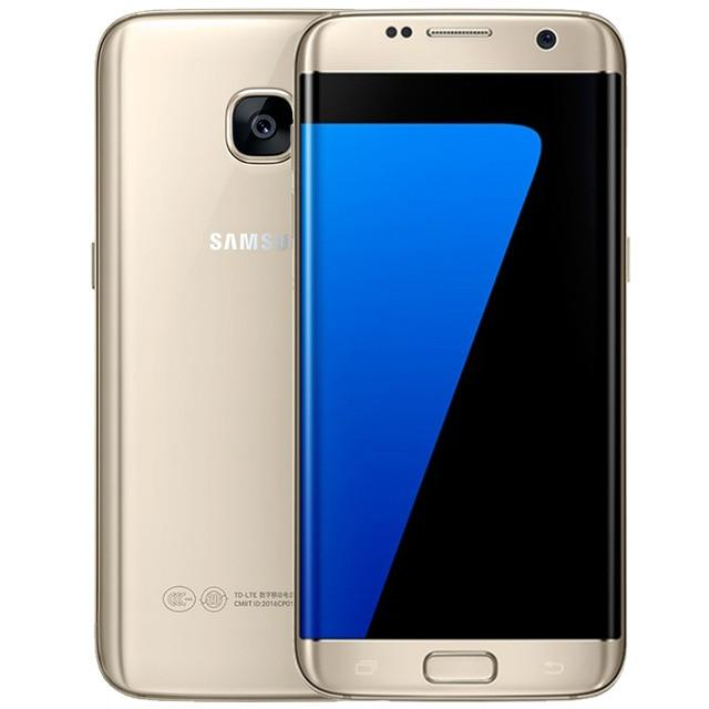 "Unlocked Samsung Galaxy S7 Edge Android Mobile Phone 4G LTE 5.5"" 12MP 4GB RAM 32GB/64GB ROM NFC GPS Smartphone - EM"