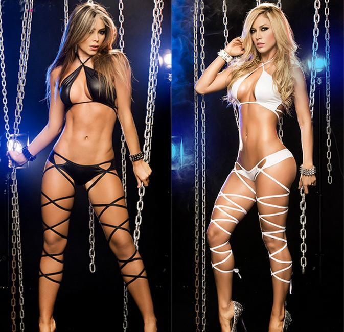 Lingerie plus size S-XXL Women Sexy Lingerie Hot Erotic Underwear Fashion Hollow Out Dance Club Sexy Babydoll Bandage Costumes - EM