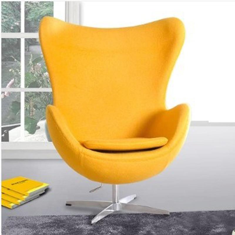 Egg Style Chair( Top cashmere),living room furniture Chairs modern style bright color egg ball chair single seater sofa chairs - EM