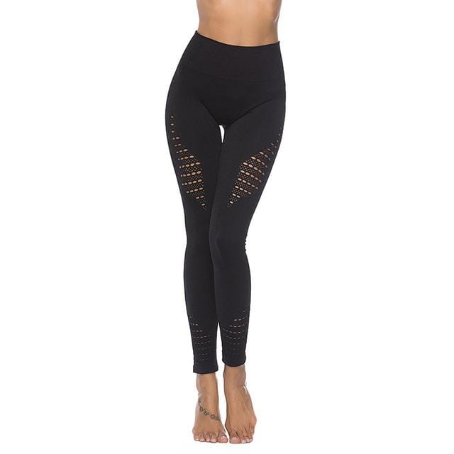 TCJULY New Design Seamless High Waisted Leggings Solid Stretchy Push Up Workout Pants Breathable Quick Dry Fitness Women Leggins - EM