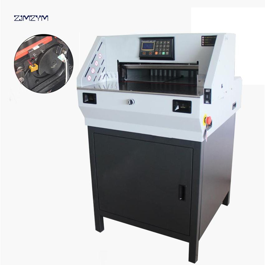 490mm Digital Electric Paper Cutter Machine,Paper Guillotine, Book Cutting Machine With High Precision,Paper Trimmer E490R - EM