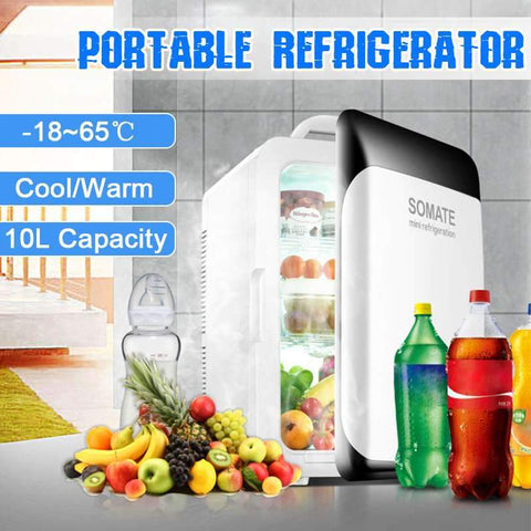 10L Refrigerator Fridge Compressor  DC12V/AC220V  Auto-Refrigerator Fridge Freezer -18-65 Degrees - Express Monde