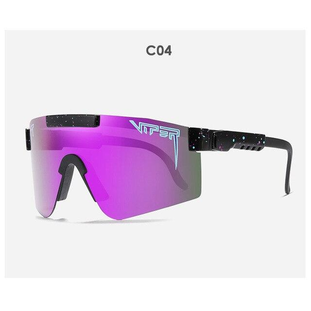 2020 BRAND Rose red PURPLE oversized Sunglasses polarized mirrored RED lens tr90 frame uv400 protection Men Sport pit viper - EM