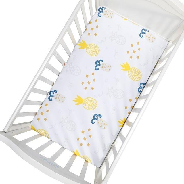 Newborn Baby Fitted Crib Sheets130*70 cm Cartoon Print  Bed Sheet Baby Bed Mattress Covers  for Unisex  Baby Boys Girls - EM