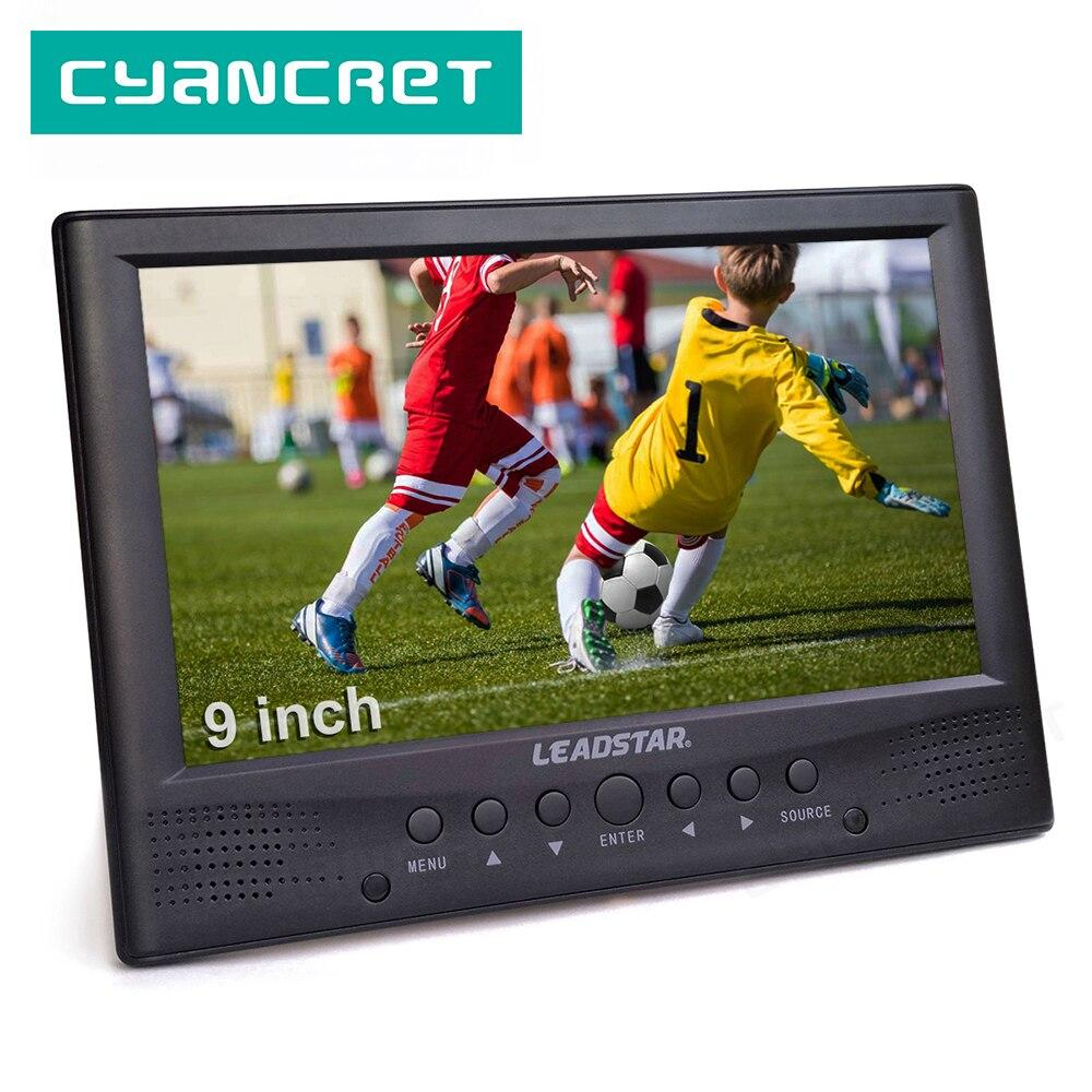 LEADSTAR DVB-T2 Portable TV ATSC tdt 9 inch Digital and Analog Television Front Speaker mini small Car TV Support H.265 AC3 - EM