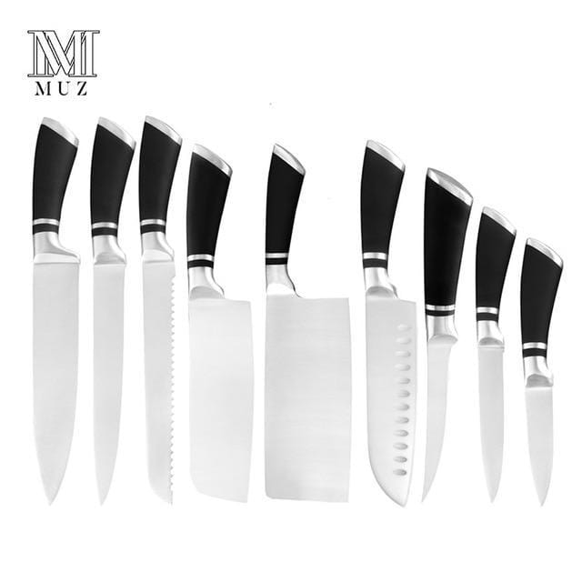 High Quality Stainless Steel Knives Set Cooking Tool Japanese Cooking Knife Very Sharp Cleaver Sushi Santoku Chef Kitchen Knives - EM