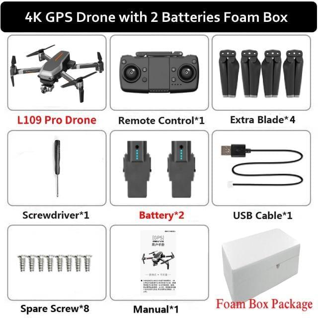 Drone 4k Gps Profissiona 5G Wifi Brushless Dron Gesture Photo Auto Return FPV Drone Camera Adjustable Quadcopter Helicoptero RC - Express Monde