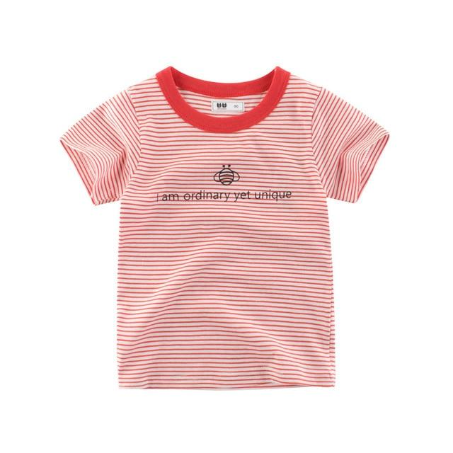 Girls T Shirt Short Sleeves Cotton Tops Boys Baby Children Clothing Summer O Neck Tee Toddler Infant for 2-8 Years - Express Monde
