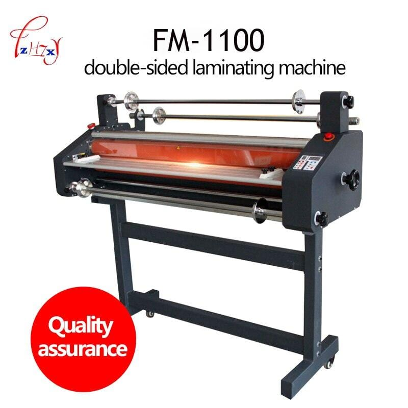 Electric Hot Cold roll Laminator 1050mm file photos laminating machine Double-sided film Laminator FM-1100 220v/50hz 2400w 1PC - EM