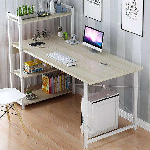 Laptop Desk with Shelves 57 Inch Corner Computer Desk with CPU Stand, Home Office Gaming Table Workstation Study Writing Desk - Express Monde