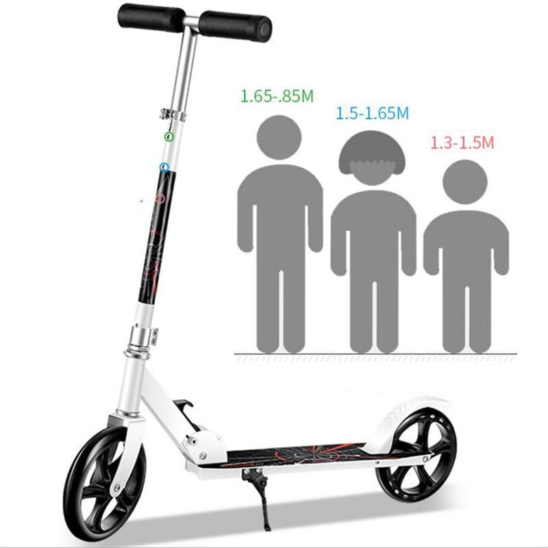 City Adjustable Aluminum Alloy T-Style Kids scooter Children Kick Scooter 200mm Wheel Adults Foldable Foot Scooter bear 200kg - EM