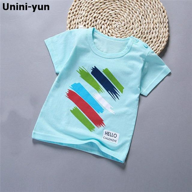 Cotton Summer Baby Children Soft Shorts T-shirt Todder Boy and Girl Kids Rain Cartoon Cute Clothes Cheap Stuff for 0-6Y - Express Monde