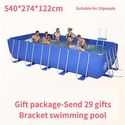 metal frame steel tube rectangular square swimming Pool piscine hors sol piscina inflavel adulto albercas grandes summer pool - EM