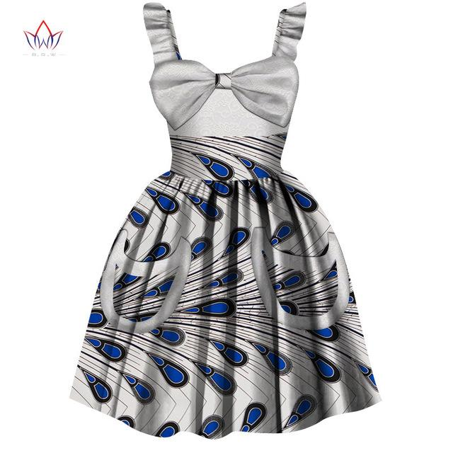 2020 African Women Clothing kids dashiki Traditional cotton Dresses Matching Africa Print dresses Children Summer BRW WYT306 - EM