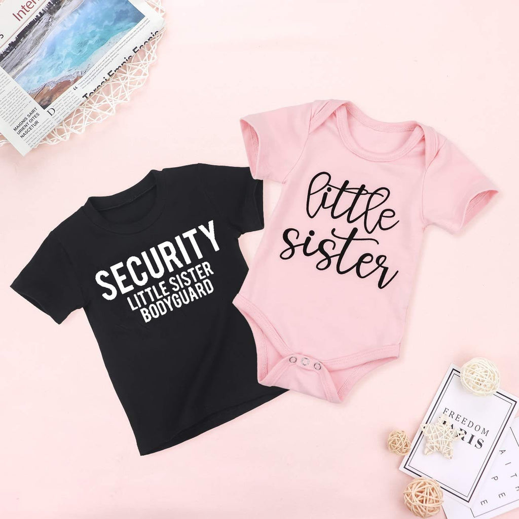 Security Little Sister Bodyguard kids shirt Little Sister Big Brother shirts Little Sister tops sibling matching tees outfits - EM