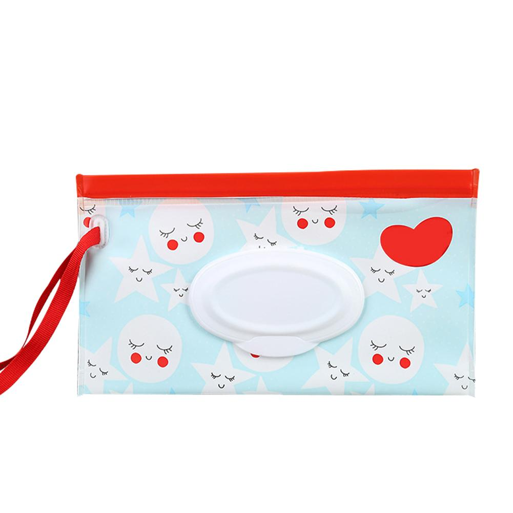 Flip baby wet wipes portable pumping bag concave and convex chain waterproof tissue packaging bag - EM