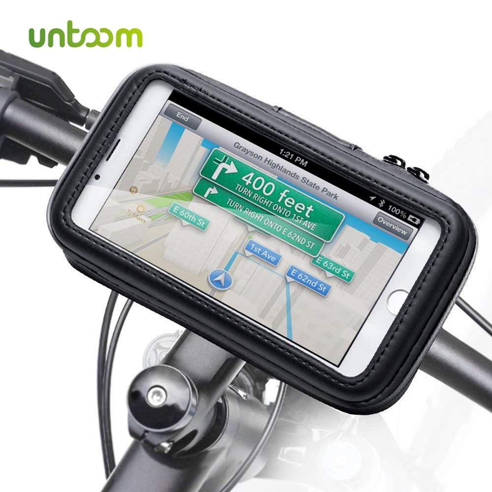 Untoom Bicycle Motorcycle Phone Holder Waterproof Bike Phone Case Bag for iPhone Xs Xr X 8 7 Samsung S9 S8 S7 Scooter Phone Case