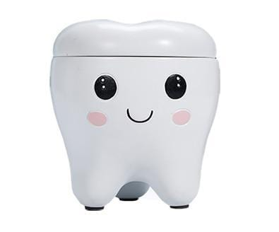 Resin Girl Boy Tooth Shape Design Tooth Storage Box For Newborn Deciduous Tooth Storage Box Organizer Milk Teeth For Baby Z746 - EM