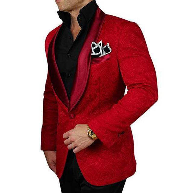 Hot Sale 9 Colors Men Wedding Suits 2020 Slim Fit Groom Tuxedos Groomsman Blazer suits for men 2 piece (Jacket+Pants) - EM