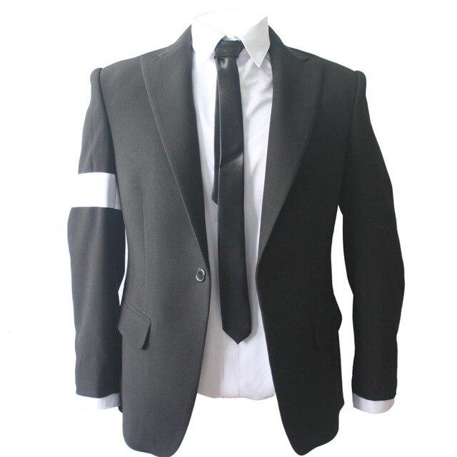 Rare MJ Michael Jackson Black Dangerous Bad Suit Skinny Blazers Outerwear Full Set For Fans Gift - EM