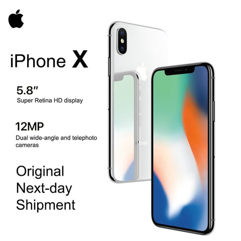 "Brand New Apple iPhone X 5.8"" OLED Super Retina Display 4G LTE FaceID 12MP Camera Bluetooth IOS 11 IP67 Waterproof"