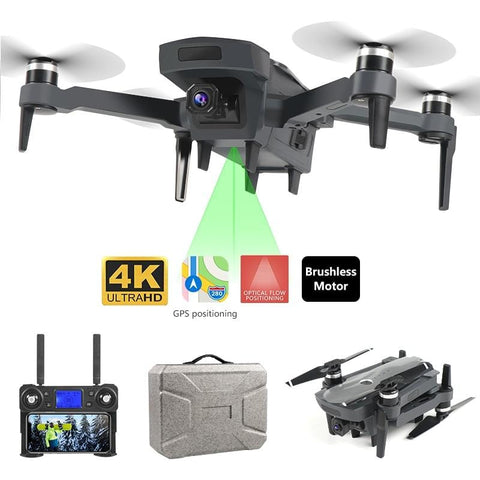 1.8km 1800 4k 5G Long Range Profissional Drone with Brushless Motor 4k Gps Drone Dual Camera Foldable Kit Follow Me - Express Monde