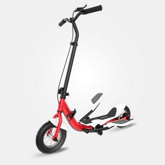 Tarcle Urban Kick Scooter With Rubber Wheels Pedal Fold Scooter Fitness Stepper 16km/h - EM