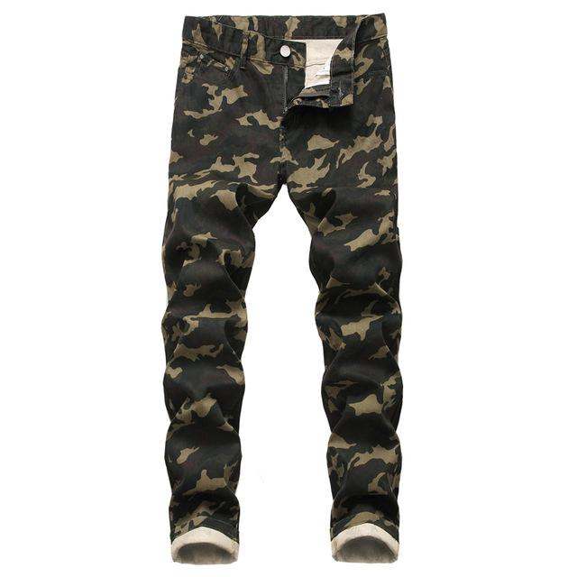 Camo Camouflage Jeans Pants Men 2020 Fashion Military Style Denim Trousers Mens Cotton Casual Stretch Jeans Male Pantalones 44 - EM