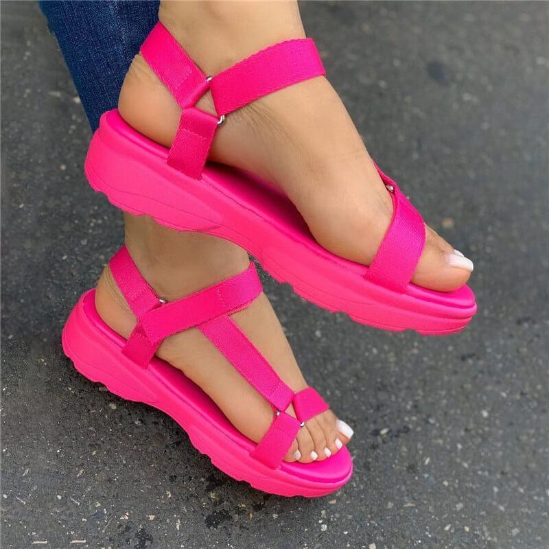 2020 INS Hot Sale Multi Colors Big Size 43 Casual Shoes Woman Flat Comfortable Sandals Female - EM