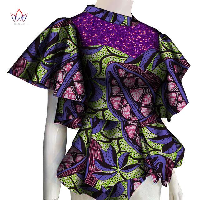 Women Clothes 2020 African Shirts For Women Dashikis 6xl Africa Clothing Women Traditional African Clothing Cotton Top WY6748 - EM