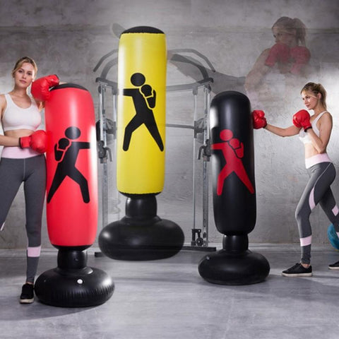 1.6M Inflatable Boxing Punching Bag Stress Punch Tower Speed Bag MMA Target Bag For Children Adult Tumbler Sandbag with Air Pump