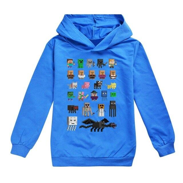 Minecrafting Anime Around Clothes Sweatshirts Long Sleeve Christmas Shirt Creeper Cosplay Jacket Kids Boys Girls Autumn Outwear - Express Monde